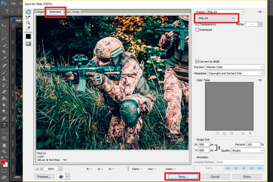 Оптимизация изображений для сайта без потери качества
